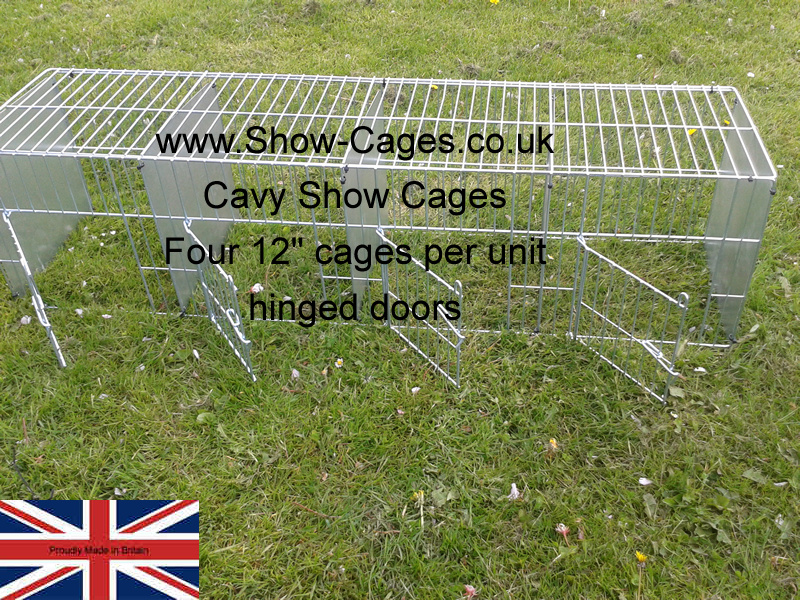 "12"" quad cavy show pens for cavies."