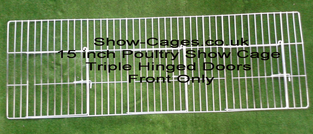 "15"" poultry show cage fronts with hinged doors FRONTS ONLY"