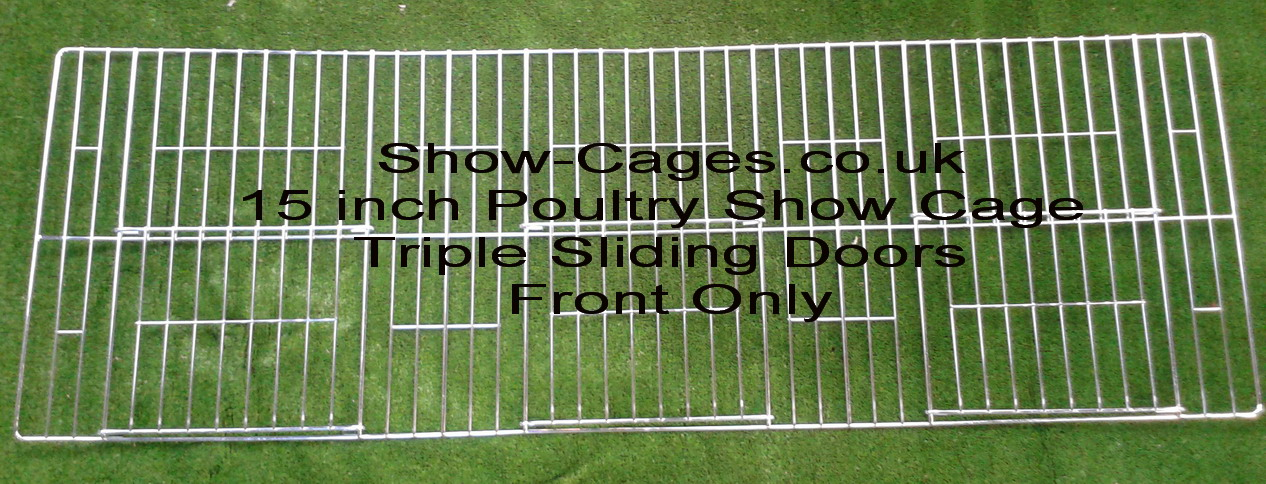 "15"" poultry show cage fronts with sliding doors FRONTS ONLY"