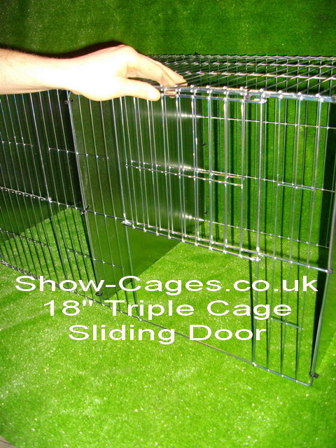 large wide sliding door make it easier to fit your birds through, meaning less stress for your birds,