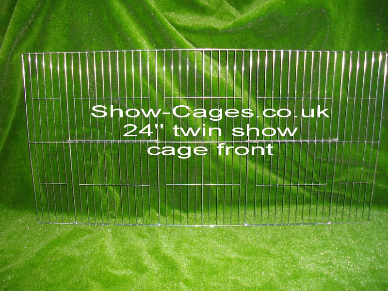 "24"" poultry show cage front ideal for training pens before a show"