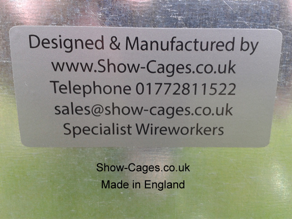 Show Cages Made in England