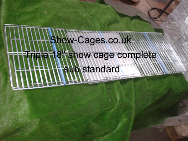eighteen inch triple show cage complete with solid divisions | seconds quality