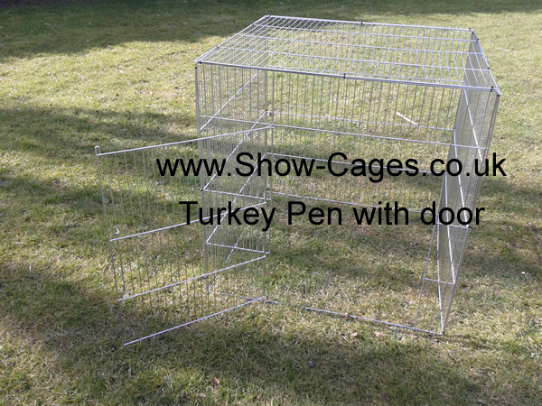 turkey show cage with opening door