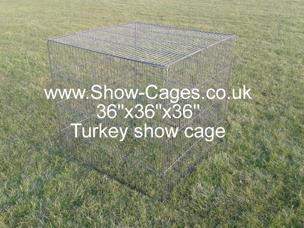 "Newly developed Turkey show pens, five separate 36"" panels connected using galvanised c rings or cable ties, can be used as top opening turkey pen."