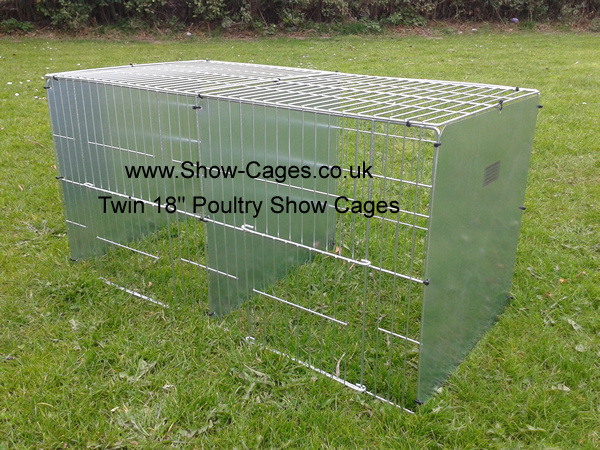 "These 18"" twin cages are cheaper to buy than our"