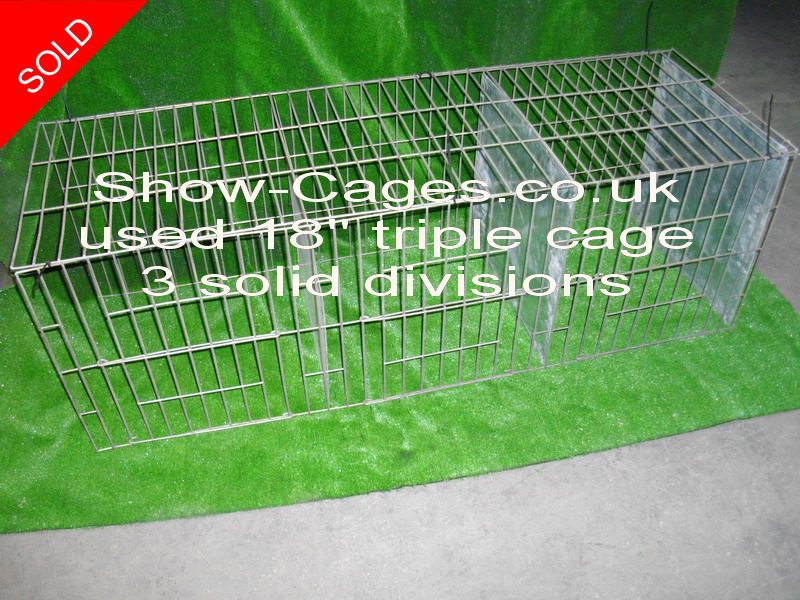 "used 18"" triple poulty show cage, very strong mesh £40 +vat"