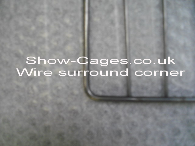 wire surround is bent round the corner like your Dad remembers poultry show cages used to be made